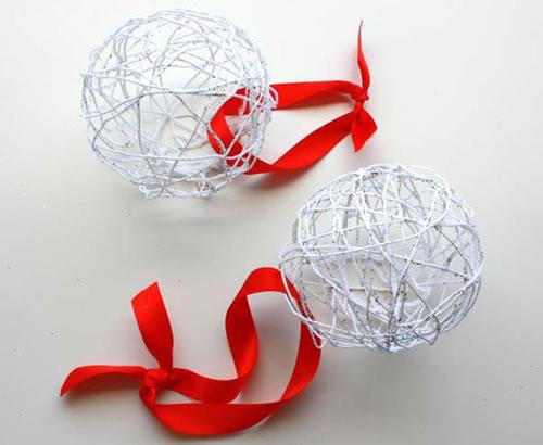 Addobbi natalizi palline di natale fai da te palline di natale fai da te - Decorazioni natalizie fai da te per esterno ...